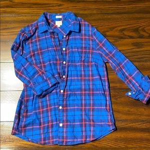 J.crew blue plaid flannel Medium